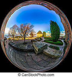 Mont Sainte Odile little planet spherical panorama - Mont...