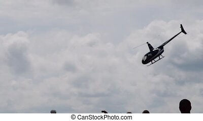 Helicopter performance at the airshow - People watching...