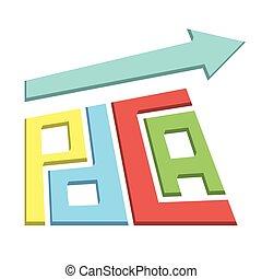 pdca arrow vector - plan do check act approach growing...