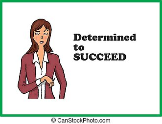 Determined to Succeed - Business cartoon about determination...