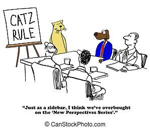 Conflict Management - Business cartoon about conflict...