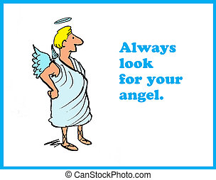 Guardian Angel - Cartoon about a guardian angel.