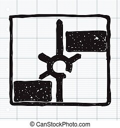 Simple doodle of a road sign showing roundabout - Simple...