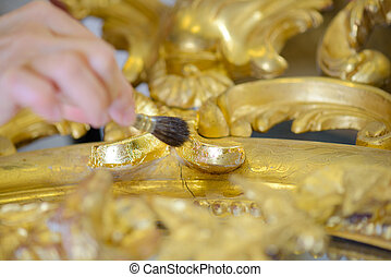 cleaning gold