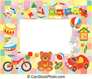 Toy picture frame