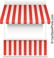 Detailed vector illustration of a stall stand - Detailed...