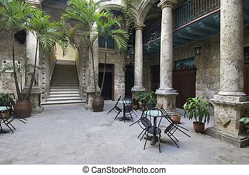 courtyard of the palace of Segundo Cabo in the Plaza de...