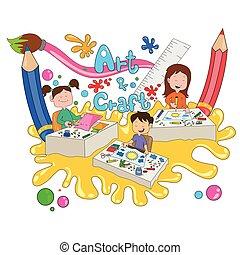 Children enjoying summer camp activities - Children enjoying...