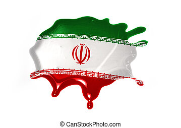 blot with national flag of iran