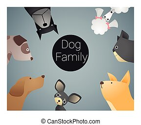 Animal background with dogs