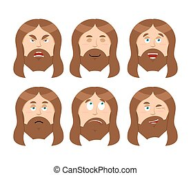 Jesus Emotions. Set expressions Picture of Jesus Christ....