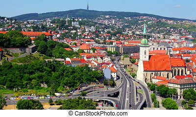 General summer view of Bratislava, Slovakia - Scenic city...