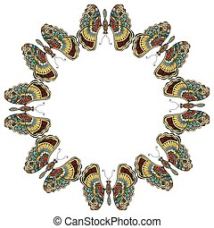 Amazing fly butterflies Vector Set collection Creative...