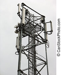 Communication tower with phone antennas