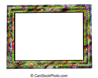 Stylish picture color frame isolated over white