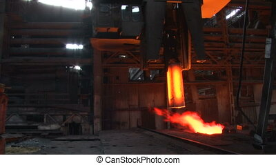 Metallurgical production of hot metal, the blank