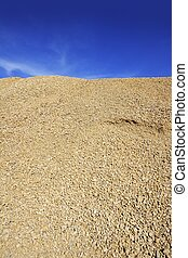 concrete yellow gravel sand quarry mountain - yellow gravel...