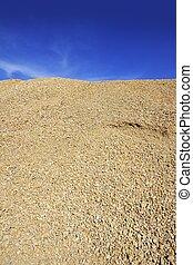 concrete yellow gravel sand quarry mountain