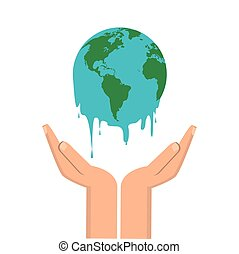 Global warming design - Global warming concept with icon...