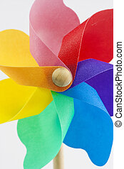 toy windmil close up - brightly coloured toy windmil close...