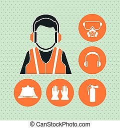 Industry security supplies design, vector illustration -...