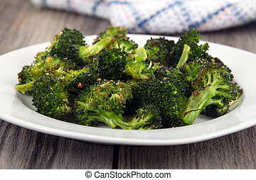 garlic parmesan broccoli side - baked roasted garlic...