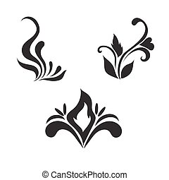 Floral vector elements, vector illustration