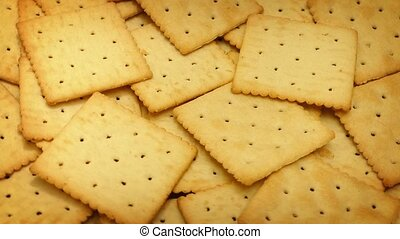 Crackers Rotating On Plate