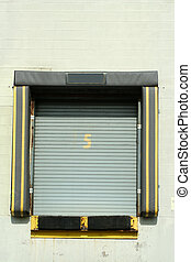 Loading dock bay door - A Loading dock bay door