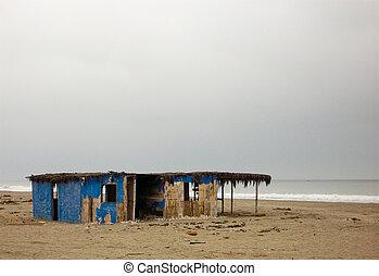 Plaża, dom, Plaża, peru
