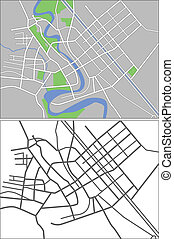 Bagdad - Illustration city map of Bagdad in vector