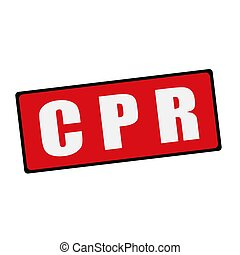 CPR wording on rectangular signs