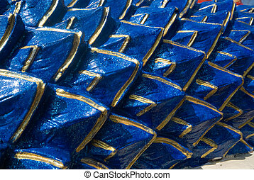 Blue scale of serpent texture - Blue scale of serpent...