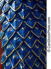Blue scale of serpent texture