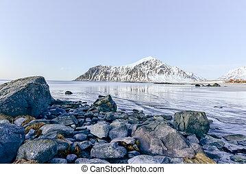 Skagsanden beach, Lofoten Islands, Norway - Skagsanden Beach...