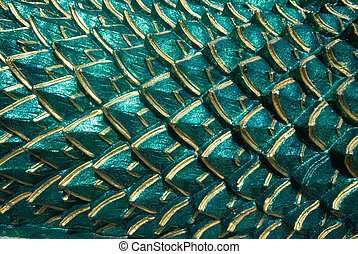 Green scale of serpent texture