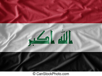 flag of Iraq , Flag has real fabric texture