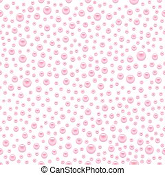 Scattered pearls seamless - Scattered pink pearls, beads...