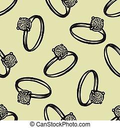 Diamantring gezeichnet  Clipart Vektor von muster, ring, diamant, seamless - diamantring ...