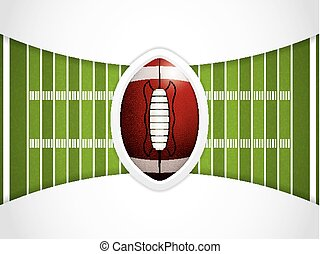 American football field - A vector grass textured American...