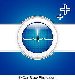 Diagnostics button - Blue diagnostics buttonMedical vector