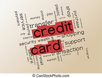 Credit card and security concept - Credit card and internet...