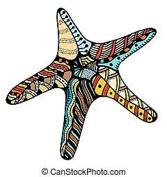 zentangle starfish - Starfish. Zentangle Vector...
