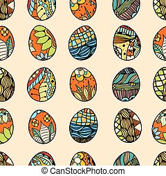 pattern with Easter eggs