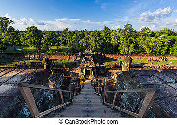 View from ancient Pre Rup Temple - View of surrounding...