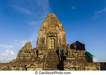 Pre Rup Temple - Majestic ancient tower at peak of Pre Rup...