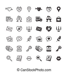 Valentines day icons, included normal and enable state -...