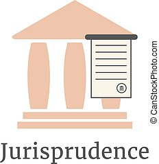lawyer logotype with greek colonnade. concept of judging,...