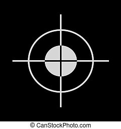 Target Icon Vector on black background