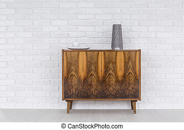 Old commode as a decoration of a modern flat - Old, wood...